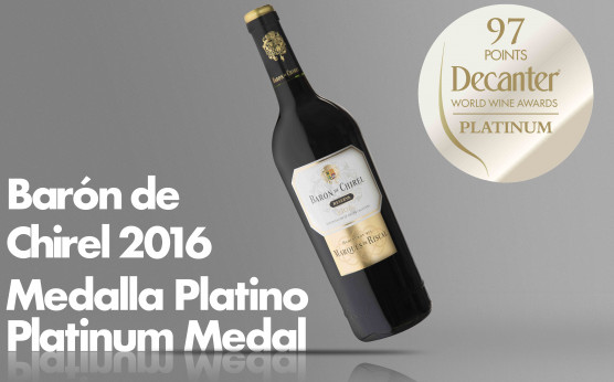 Barón de Chirel 2016 Platinum Medal in Decanter Awards 2020